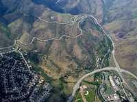 Mt. Zion from Paraglider